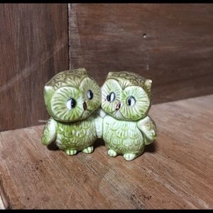 Antique ceramic owls